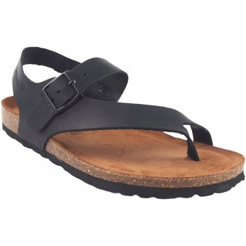 Zapatos Mujer Chanclas Interbios Sandalia señora  7162 negro Negro