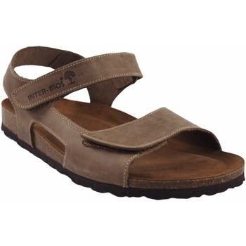Zapatos Hombre Sandalias Interbios Sandalia caballero  9536 taupe Marrón