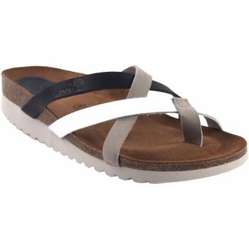 Zapatos Mujer Zuecos (Mules) Interbios Sandalia señora  7113-mg bl.azu Gris