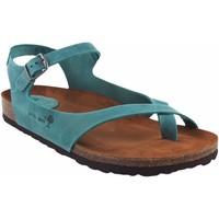Zapatos Mujer Sandalias Interbios Sandalia señora  7164 vaquero Azul