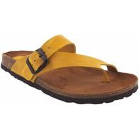 Zapatos Mujer Chanclas Interbios Sandalia señora  7119 mostaza Amarillo