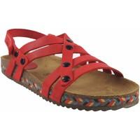 Zapatos Mujer Zuecos (Mules) Interbios Sandalia señora  7200-c rojo Rojo