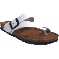 Zapatos Mujer Chanclas Interbios Sandalia señora  7119 blanco Blanco