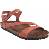 Zapatos Mujer Sandalias Interbios Sandalia señora  7219 teja Rojo