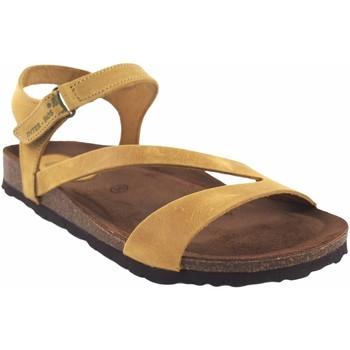 Zapatos Mujer Sandalias Interbios Sandalia señora  7219 mostaza Amarillo