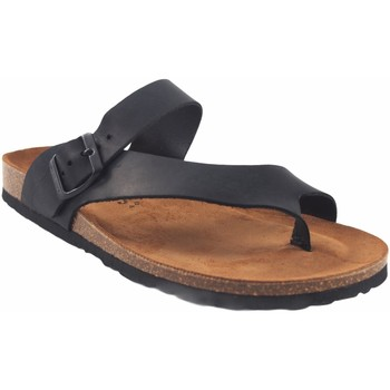 Zapatos Hombre Sandalias Interbios Sandalia caballero  9511 negro Negro