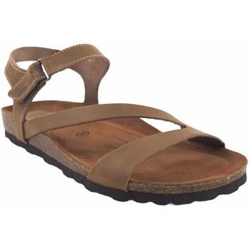 Zapatos Mujer Sandalias Interbios Sandalia señora  7219 beig Marrón