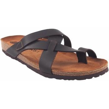 Zapatos Hombre Zuecos (Mules) Interbios Sandalia caballero  9513 marron Marrón