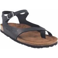 Zapatos Mujer Sandalias Interbios Sandalia señora  7164 negro Negro