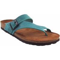 Zapatos Mujer Chanclas Interbios Sandalia señora  7119 vaquero Azul