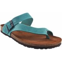 Zapatos Hombre Chanclas Interbios Sandalia caballero  9511 vaquero Azul