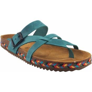 Zapatos Mujer Chanclas Interbios Sandalia señora  7121-c vaquero Marrón