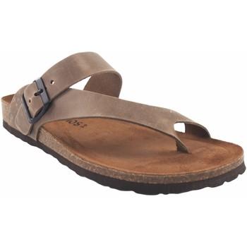 Zapatos Hombre Chanclas Interbios Sandalia caballero  9511 tierra Marrón