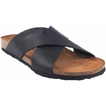 Zapatos Hombre Zuecos (Mules) Interbios Sandalia caballero  9509 negro Negro