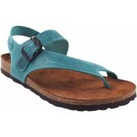 Zapatos Mujer Chanclas Interbios Sandalia señora  7162 vaquero Azul
