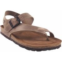 Zapatos Mujer Chanclas Interbios Sandalia señora  7162 taupe Marrón