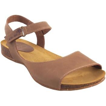 Zapatos Mujer Sandalias Interbios Sandalia señora  4458 beig Marrón