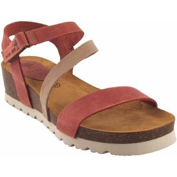 Zapatos Mujer Sandalias Interbios Sandalia señora  5655 taupe Rojo