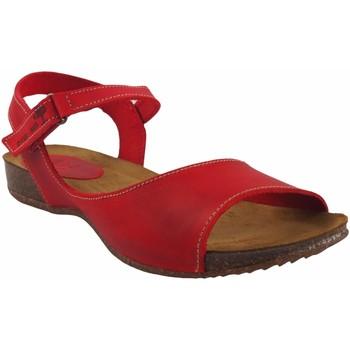 Zapatos Mujer Sandalias Interbios Sandalia señora  4458 rojo Rojo