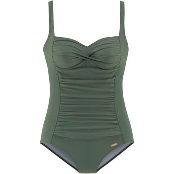 textil Mujer Bañador Lascana Traje de baño adelgazante 1 pieza TK-5 caqui copas B a E Lavanda