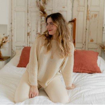 textil Mujer Jerséis Céleste COMETE Ecru