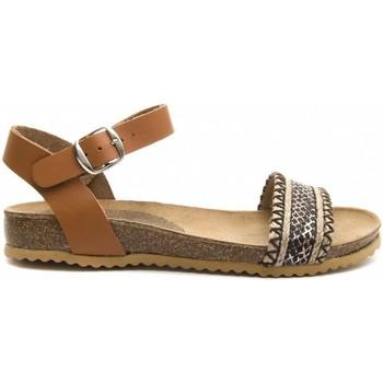 Zapatos Mujer Sandalias Purapiel 70182 BROWN
