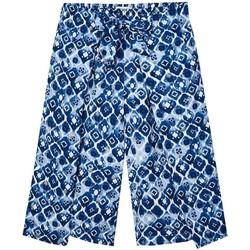 textil Niña Pantalones Mayoral Pantalon culotte estampado Azul