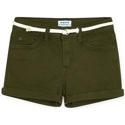 textil Niña Shorts / Bermudas Mayoral Short sarga basico Verde