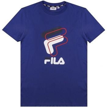 textil Hombre Camisetas manga corta Fila - T-shirt azzurro 688464-C60 AZZURRO