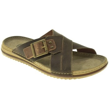 Zapatos Hombre Zuecos (Mules) Kelara SANDALIA HOMBRE  MARRON Marrón