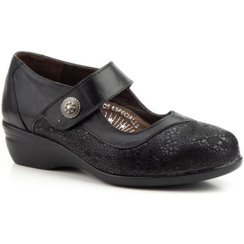 Zapatos Mujer Zapatos de tacón Cbp - Conbuenpie Merceditas confort de piel by CBP Noir