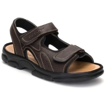 Zapatos Hombre Sandalias Morxiva Shoes Sandalias XL de hombre de piel by Morxiva Marron