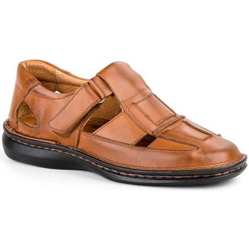 Zapatos Hombre Sandalias Cactus Calzados Sandalias XL de hombre de piel by Cactus (47 - 49) Marron