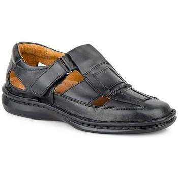 Zapatos Hombre Sandalias Cactus Calzados Sandalias XL de hombre de piel by Cactus (47 - 49) Noir