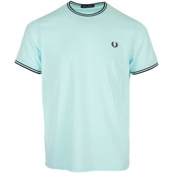 textil Hombre Camisetas manga corta Fred Perry Twin Tipped T-Shirt Azul