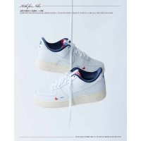 Zapatos Zapatillas bajas Nike Air Force 1 Low x Kith Paris White/Red-Navy