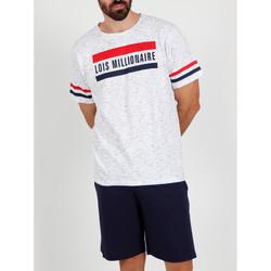 textil Hombre Pijama Admas For Men Camiseta corta del pijama Millionnaire Lois blanco Admas Blanco