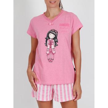 textil Mujer Pijama Admas Camiseta de pijamas Goodnight Gorjuss Santoro rosa Rosa Pálido