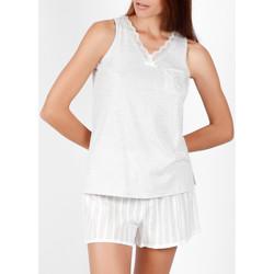 textil Mujer Pijama Admas Pantalones cortos de pijama sin mangas Luxe Stripes gris Gris Claro