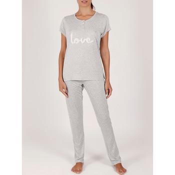 textil Mujer Pijama Admas Pantalones pijama camiseta traje de interior Love Pucker gris Gris Claro