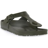 Zapatos Mujer Chanclas Birkenstock GIZEH EVA KHAKI CALZ N Verde