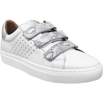 Zapatos Mujer Zapatillas bajas K.mary Claros Blanco/Plata
