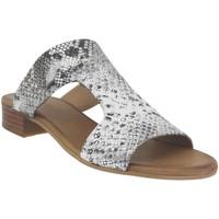 Zapatos Mujer Zuecos (Mules) K.mary Kir Cuero gris metal
