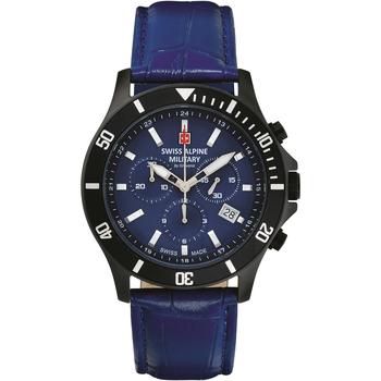 Relojes & Joyas Hombre Relojes analógicos Swiss Alpine Military 7022.9575, Quartz, 42mm, 10ATM Negro