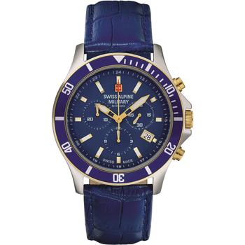Relojes & Joyas Hombre Relojes analógicos Swiss Alpine Military 7022.9545, Quartz, 42mm, 10ATM Plata