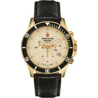 Relojes & Joyas Hombre Relojes analógicos Swiss Alpine Military 7022.9511, Quartz, 42mm, 10ATM Oro