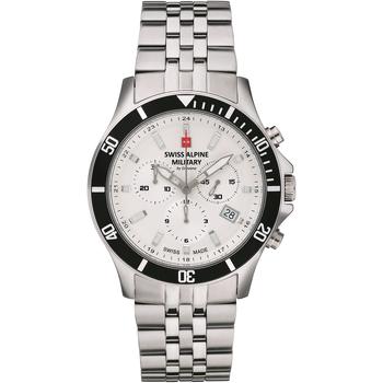 Relojes & Joyas Hombre Relojes analógicos Swiss Alpine Military 7022.9132, Quartz, 42mm, 10ATM Plata