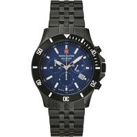 Relojes & Joyas Hombre Relojes analógicos Swiss Alpine Military 7022.9175, Quartz, 42mm, 10ATM Negro