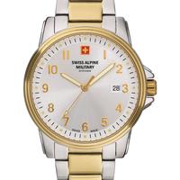 Relojes & Joyas Hombre Relojes analógicos Swiss Alpine Military 7011.1142, Quartz, 40mm, 10ATM Plata