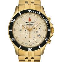 Relojes & Joyas Hombre Relojes analógicos Swiss Alpine Military 7022.9111, Quartz, 42mm, 10ATM Oro